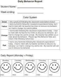 behaviour report template the 25 best daily behavior report ideas on weekly