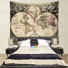 Vintage Home Interior Products by Antique World Map Wall Tapestry Vintage World Map Wall Hanging