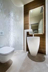 Contemporary Pedestal Sink Denver Modern Pedestal Sink Powder Room Contemporary With Glass