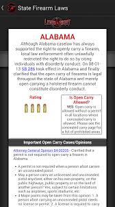 Arizona Ccw Reciprocity Map by Amazon Com Legal Heat 50 State Guide To Firearm Laws Appstore
