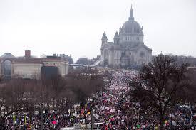 women u0027s march in st paul mn drew 100 000 anti trump people