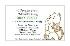 winnie the pooh baby shower invitations customized classic winnie the pooh baby shower