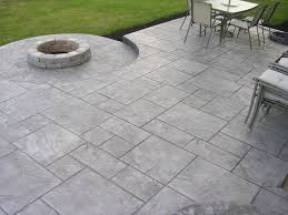 decorating stamped concrete patio with fire pit u0026 walkways
