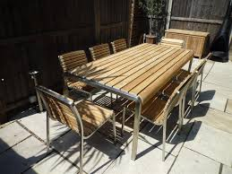 teak and stainless steel outdoor furniture home design