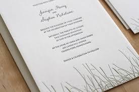 Letterpress Invitations Grass Letterpress Wedding Invitations U2014 Letterpress Wedding