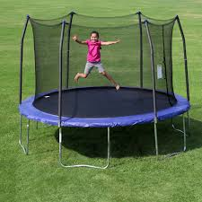 Backyard Gymnastics Equipment Skywalker Trampolines 14 U0026apos Round Trampoline And Enclosure With