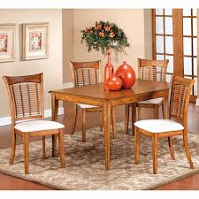 Solid Oak Dining Room Sets Hillsdale Bayberry 5 Piece Round Dining Set Oak Hayneedle