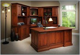 Office Furniture Desk Hutch Corner Desk With Hutch Also Corner Desk With Printer Shelf Also