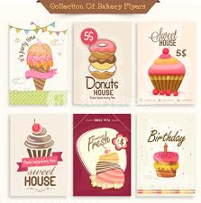 sweet house set of bakery flyers including party flyer birthday invitation