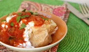 Cottage Cheese Recepies by Cottage Cheese Baked Potato With Salsa Easy Healthy Recipes