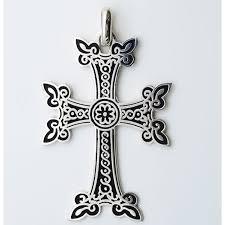 armenian crosses large armenian sterling silver cross with black enamel 2 3 4