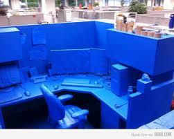 Office Desk Prank Blue Painters Painters Pranks Ideas And Humour Quotes