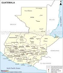 map of guatemala cities physical map of guatemala cities