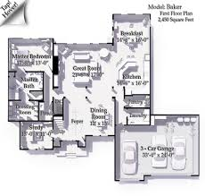 Master Suites Floor Plans The Baker The Tuckerman Home Group