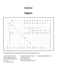 colony word search indians pilgrims mayflower compact etc