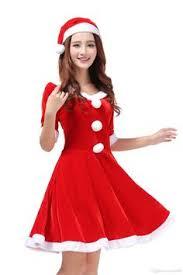 1 piece santa u0027s envy holiday costume includes fur trimmed dress