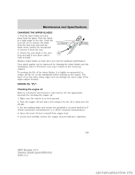 oil level ford escape 2007 2 g owners manual