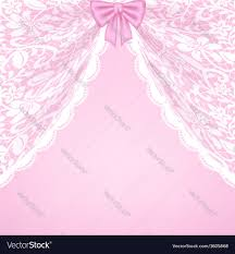 lace curtains and bow royalty free vector image