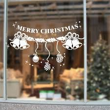 2016 removable white snowflakes bell ornaments window