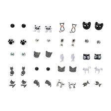 claires earrings 20 pack cat stud earrings s