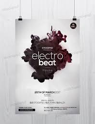 electro beat is a free psd flyer template to download this psd