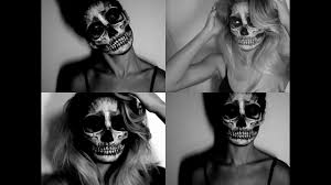 skeleton halloween face paint tutorial time lapse youtube