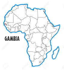 africa map gambia gambia outline inset into a map of africa a white background