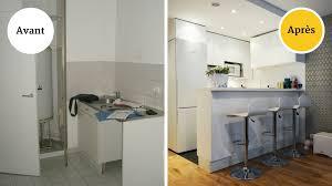 cuisine pour petit appartement avant après une cuisine conviviale pour petit appartement