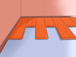 Laminate Floor Moisture Barrier How To Install Pergo Flooring 11 Steps With Pictures Wikihow