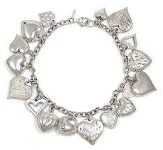 sterling silver hearts bracelet images Vintage sterling silver hearts charm bracelet jpg