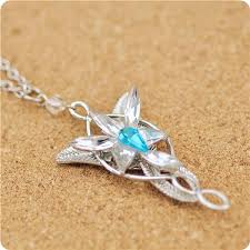 blue crystal necklace pendant images Wholesale the lord of rings inspired newest even star arwen blue jpg