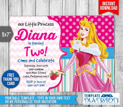 sleeping beauty invitation disney princess invite by