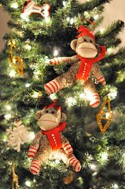 sock monkey ornament rainforest islands ferry