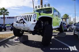 jeep easter bunny 2017 sema jive jeep lime green jeep jk wrangler unlimited