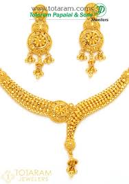 gold necklace earrings set images 22k gold necklace earrings set gs2677 jpg
