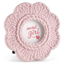 sweet pink crochet flower baby picture frame picture frames