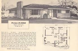 Mid Century House Plans Vintage House Plans 209h Antique Alter Ego