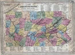Paper Towns On Maps 1830 U0027s Pennsylvania Maps