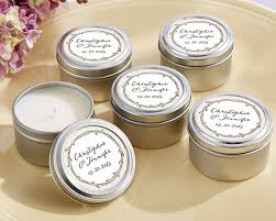 wedding favor candles personalized the hunt is travel candle my wedding favors