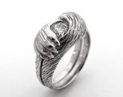 wolf wedding rings fox ring etsy