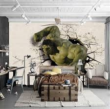3d mural wholesale 3d cartoom mural green man hulk 3d wall mural wallpaper