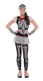 Skeleton Dress Day Of The Dead Girls Fancy Dress Halloween Skeleton Skull Kids