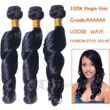 weave on 5a unprocessed remy hair weave black color for sale