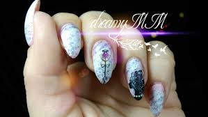 shabby chic love letters valentine stamping nail art youtube
