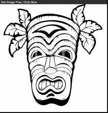 beautiful hawaiian tiki masks coloring pages with hawaii coloring