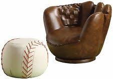 Armchair Ottoman Set Crown Mark 7005 Baseball Glove Chair And Ottoman Set Ebay
