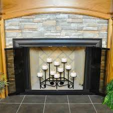 surprising white candles in fireplace photo decoration inspiration