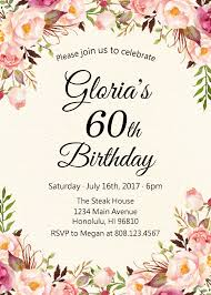 celebrating 60 years birthday 60th birthday invitations for women sixty and fabulous invitation
