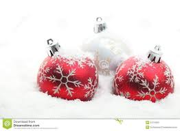 ornaments and white ornaments and