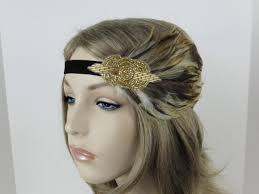 great gatsby hair accessories gold flapper headpiece 1920s hair accessories great gatsby